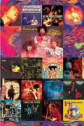 Jimi Hendrix Poster 'Album Covers