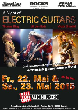 A Night of electric guitars on stage