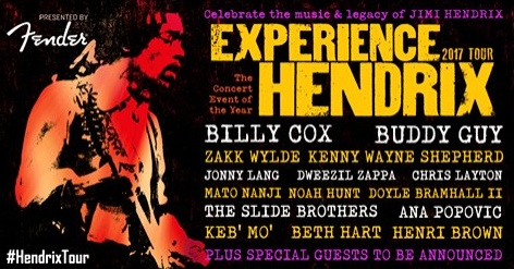 Experience Hendrix Tour Dates 2017