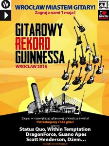 Guitar Guinness World Record 2016 in Wroclaw