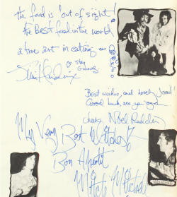 An autographed restaurant Guestbook 1969