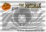 The Hendrix Live Flyer 31.10. Bonn - 4.11. Worbis