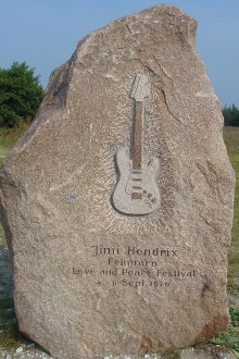 Jimi Hendrix Memorial Rock Fehmarn/Germany